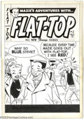 Original Comic Art:Covers, Attributed to Warren Kremer - Original Cover Art for Flat-Top #2(Harvey, 1954). The cover to the second issue of Flat-Top...
