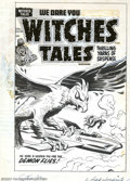 Original Comic Art:Covers, Al Avison - Original Cover Art for Witches Tales #28 (Harvey,1954). A jet pilot becomes a guinea pig for a gigantic demon b...