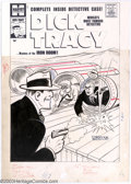 Original Comic Art:Covers, Attributed to Al Avison - Original Cover Art for Dick Tracy #136(Harvey, 1959). Dick Tracy blasts a pistol from the hand of...