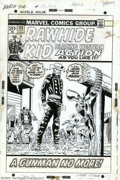 "Original Comic Art:Covers, Larry Lieber - Original Cover Art for The Rawhide Kid #113 (Marvel,1973). The Rawhide Kid is ""A Gunman No More!"", in this c..."