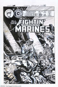 Original Comic Art:Covers, Unknown Artist - Original Cover Art for Fightin' Marines #133(Charlton, 1976). This gut-wrenching cover by an unidentified ...