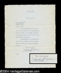 Autographs, June Allyson Signed Typed Letter