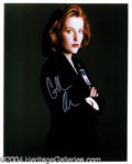 Autographs, Gillian Anderson Signed 11 x 14 Photo