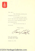 Autographs, Anne Baxter Signed Letter to Joan Crawford