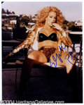 Autographs, Elizabeth Berkley Signed 8 x 10 Photo