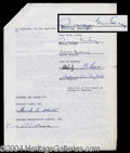 Autographs, Irving Berlin Signed Document