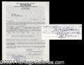 Autographs, Mel Blanc Vintage Signed Document