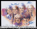 Autographs, Cast of Brady Bunch Signed Litho