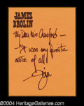 Autographs, James Brolin Signed LS to Joan Crawford