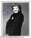 Autographs, Claudette Colbert Signed 8 x 10 Photo
