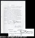 Autographs, Francis Ford Coppola Signed Document