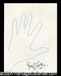 Autographs, Joseph Cotton Signed Hand Sketch