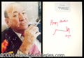 Autographs, Noel Coward signed Card