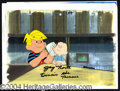 Autographs, Dennis The Menace Signed Cartoon Cels