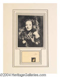 Autographs, Marlene Dietrich Matted Signed Display