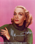 Autographs, Marlene Dietrich signed 8x10