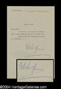 Autographs, Melvyn Douglas Signed TLS to Joan Crawford