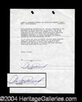 Autographs, Clint Eastwood Rare Signed Document