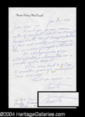 Autographs, Nanette Fabray Signed ALS to Joan Crawford