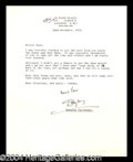 Autographs, Douglas Fairbanks, Jr. Typed Letter Signed