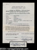 Autographs, Douglas Fairbanks, Jr. Signed Document