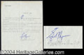 Autographs, Erroll Flynn Vintage Signed Document
