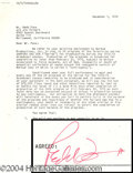 Autographs, Redd Foxx signed document