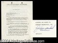 Autographs, Judy Garland Vintage Signed Document