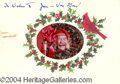 Autographs, Will Geer Signed Xmas Card to Joan Crawford