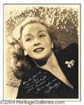 Autographs, Bonita Granville Vintage Signed Photo