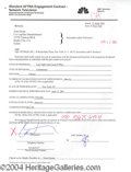 Autographs, Tom Green signed Document