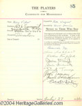 Autographs, Cedric Hardwicke signed document