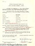 Autographs, Rex Harrison signed contract
