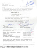 Autographs, Tippi Hedron signed document