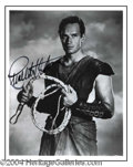 Autographs, Charlton Heston Signed Ben Hur Photo