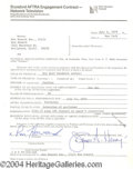 Autographs, Ron Howard signed document