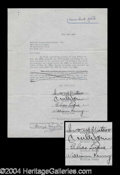 Autographs, The Four Ink Spots Rare Signed Document