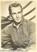 Autographs, Alan Ladd signed 5x7