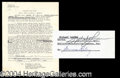 Autographs, Michael Landon Unique Signed Bonanza Document