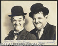 Autographs, Laurel & Hardy Beautiful Vintage Signed Photo