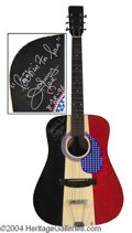 Autographs, Johnny Lee Unique Signed Guitar