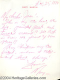 Autographs, Mary Martin signed Letter to Joan Crawford