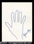 Autographs, Virginia Mayo Signed Hand Sketch