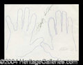 Autographs, Butterfly McQueen Signed Hand Sketches