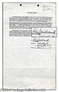 Autographs, Ray Milland Signed Document