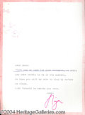 Autographs, Liza Minnelli signed letter to Joan Crawford