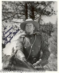 Autographs, Clayton Moore signed 8x10