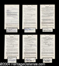 Autographs, Mothers In Law Signed Document Lot wEve Arden