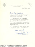 Autographs, Mountbatten signed letter to Joan Crawford