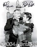 Autographs, Munster Actors Patrick & Lewis Signed Photo